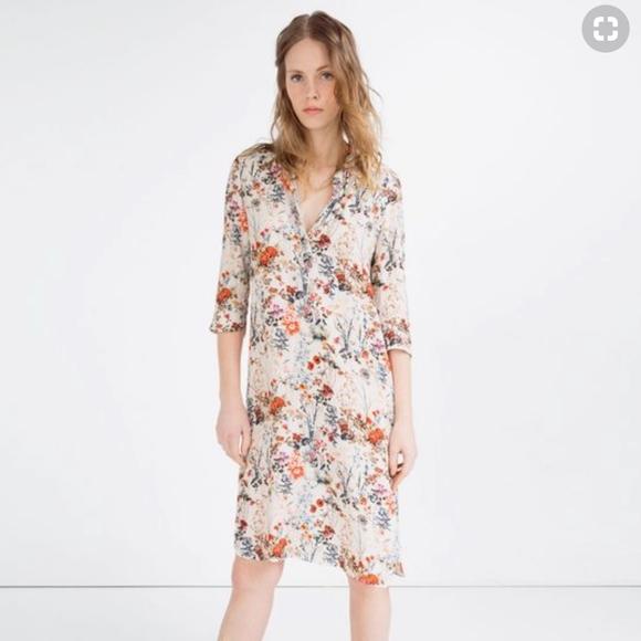 613ffdc7338 Zara printed floral tunic dress. M_5aa0446f84b5ceb1375ab329